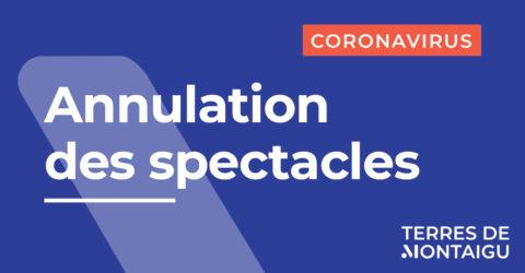 Image : Annulation des spectacles - Coronavirus COVID-19 - Théâtre de Thalie - Terres de Montaigu